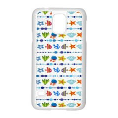 Coral Reef Fish Coral Star Samsung Galaxy S5 Case (white) by Mariart