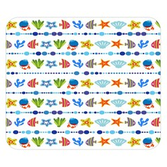 Coral Reef Fish Coral Star Double Sided Flano Blanket (small)  by Mariart