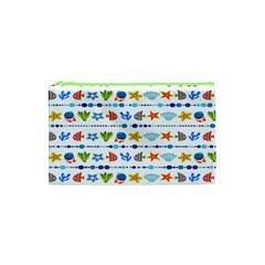 Coral Reef Fish Coral Star Cosmetic Bag (xs) by Mariart