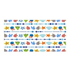 Coral Reef Fish Coral Star Satin Wrap by Mariart