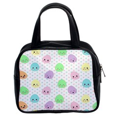 Egg Easter Smile Face Cute Babby Kids Dot Polka Rainbow Classic Handbags (2 Sides) by Mariart