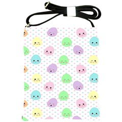Egg Easter Smile Face Cute Babby Kids Dot Polka Rainbow Shoulder Sling Bags by Mariart