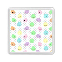 Egg Easter Smile Face Cute Babby Kids Dot Polka Rainbow Memory Card Reader (square)  by Mariart