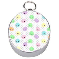 Egg Easter Smile Face Cute Babby Kids Dot Polka Rainbow Silver Compasses by Mariart