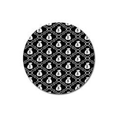 Dollar Money Bag Magnet 3  (round) by Mariart