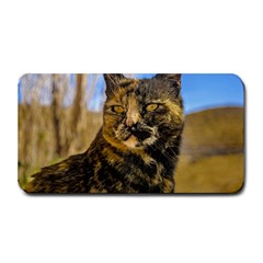 Adult Wild Cat Sitting And Watching Medium Bar Mats by dflcprints