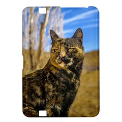Adult Wild Cat Sitting And Watching Kindle Fire Hd 8 9  by dflcprints