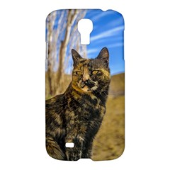 Adult Wild Cat Sitting And Watching Samsung Galaxy S4 I9500/i9505 Hardshell Case by dflcprints