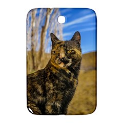 Adult Wild Cat Sitting And Watching Samsung Galaxy Note 8 0 N5100 Hardshell Case  by dflcprints