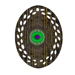 In The Stars And Pearls Is A Flower Oval Filigree Ornament (two Sides) by pepitasart