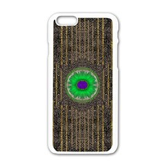 In The Stars And Pearls Is A Flower Apple Iphone 6/6s White Enamel Case by pepitasart