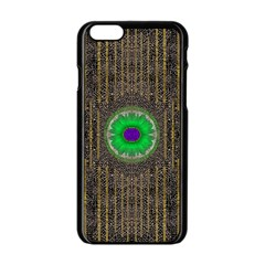 In The Stars And Pearls Is A Flower Apple Iphone 6/6s Black Enamel Case by pepitasart
