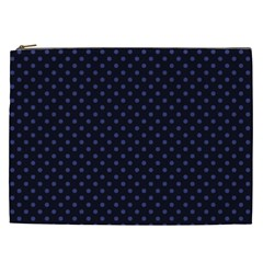 Dots Cosmetic Bag (xxl)  by Valentinaart