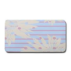 Flower Floral Sunflower Line Horizontal Pink White Blue Medium Bar Mats by Mariart