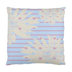 Flower Floral Sunflower Line Horizontal Pink White Blue Standard Cushion Case (two Sides) by Mariart