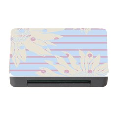 Flower Floral Sunflower Line Horizontal Pink White Blue Memory Card Reader With Cf by Mariart
