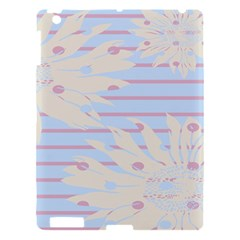 Flower Floral Sunflower Line Horizontal Pink White Blue Apple Ipad 3/4 Hardshell Case by Mariart