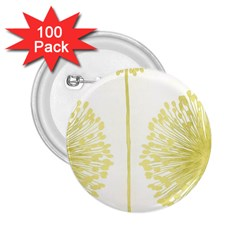 Flower Floral Yellow 2 25  Buttons (100 Pack)  by Mariart