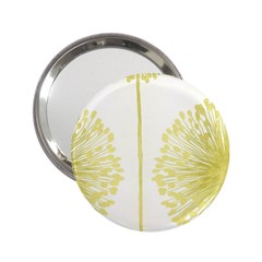 Flower Floral Yellow 2 25  Handbag Mirrors by Mariart
