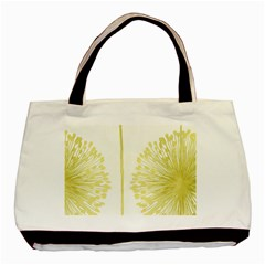 Flower Floral Yellow Basic Tote Bag by Mariart