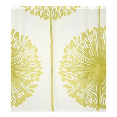 Flower Floral Yellow Shower Curtain 66  X 72  (large)  by Mariart