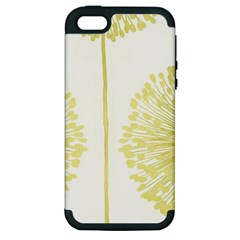 Flower Floral Yellow Apple Iphone 5 Hardshell Case (pc+silicone) by Mariart
