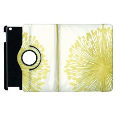 Flower Floral Yellow Apple Ipad 2 Flip 360 Case by Mariart