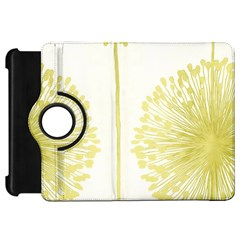 Flower Floral Yellow Kindle Fire Hd 7  by Mariart