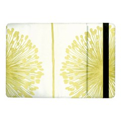 Flower Floral Yellow Samsung Galaxy Tab Pro 10 1  Flip Case by Mariart