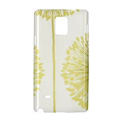 Flower Floral Yellow Samsung Galaxy Note 4 Hardshell Case by Mariart