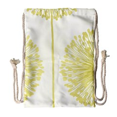 Flower Floral Yellow Drawstring Bag (large) by Mariart
