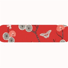 Dandelions Red Butterfly Flower Floral Large Bar Mats by Mariart