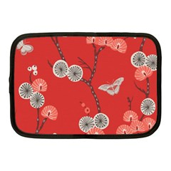 Dandelions Red Butterfly Flower Floral Netbook Case (medium)  by Mariart
