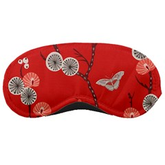Dandelions Red Butterfly Flower Floral Sleeping Masks by Mariart