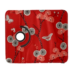 Dandelions Red Butterfly Flower Floral Galaxy S3 (flip/folio) by Mariart