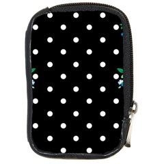Flower Frame Floral Polkadot White Black Compact Camera Cases by Mariart