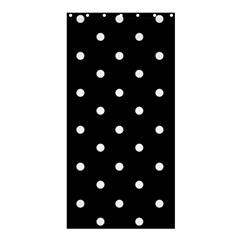Flower Frame Floral Polkadot White Black Shower Curtain 36  X 72  (stall)  by Mariart