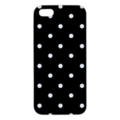 Flower Frame Floral Polkadot White Black Iphone 5s/ Se Premium Hardshell Case by Mariart