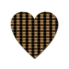 Geometric Shapes Plaid Line Heart Magnet by Mariart