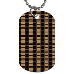 Geometric Shapes Plaid Line Dog Tag (two Sides) by Mariart