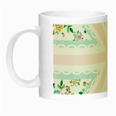 Frame Flower Floral Sunflower Line Night Luminous Mugs by Mariart