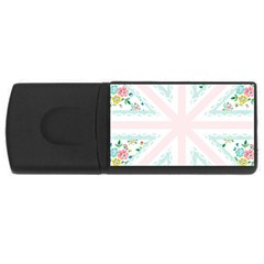 Frame Flower Floral Sunflower Line Usb Flash Drive Rectangular (4 Gb) by Mariart