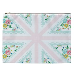 Frame Flower Floral Sunflower Line Cosmetic Bag (xxl)  by Mariart