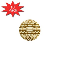 Geometric Seamless Aztec Gold 1  Mini Magnet (10 Pack)  by Mariart