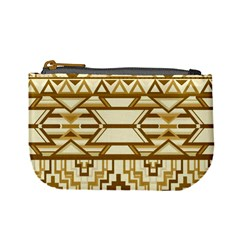 Geometric Seamless Aztec Gold Mini Coin Purses by Mariart