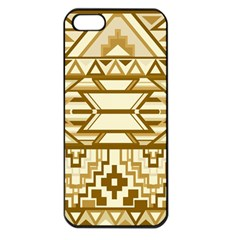 Geometric Seamless Aztec Gold Apple Iphone 5 Seamless Case (black) by Mariart