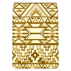 Geometric Seamless Aztec Gold Flap Covers (l)  by Mariart