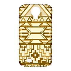 Geometric Seamless Aztec Gold Samsung Galaxy S4 Classic Hardshell Case (pc+silicone) by Mariart