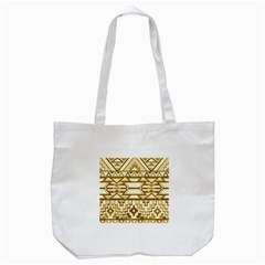 Geometric Seamless Aztec Gold Tote Bag (white) by Mariart