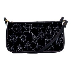 Geometry Geometry Formula Shoulder Clutch Bags by Mariart
